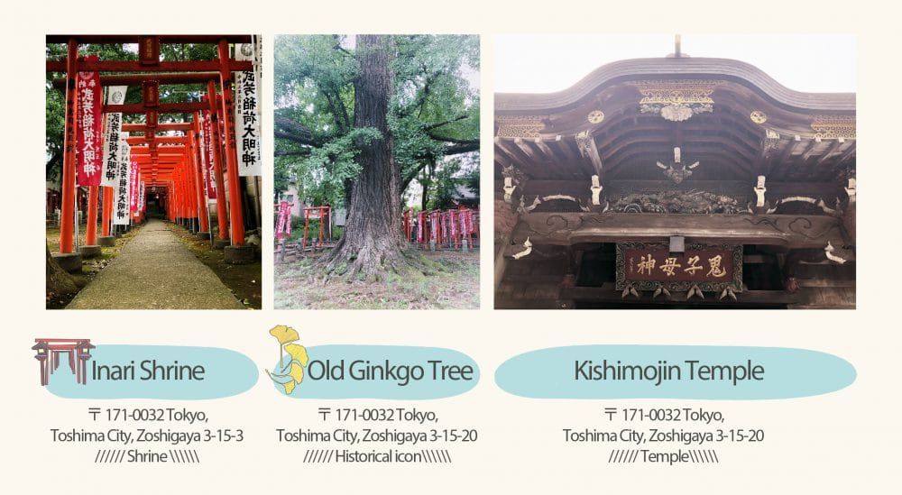 Temple and ginkgo tree